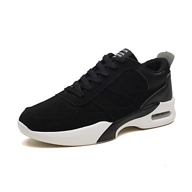 สำหรับผู้ชาย รองเท้าสบาย ๆ PU ฤดูร้อนฤดูใบไม้ผลิ Sporty / ไม่เป็นทางการ รองเท้ากีฬา สำหรับวิ่ง ระบายอากาศ สีดำ / สีดำและสีขาว / สีดำ / สีแดง / ไม่ลื่นไถล / สวมหลักฐาน