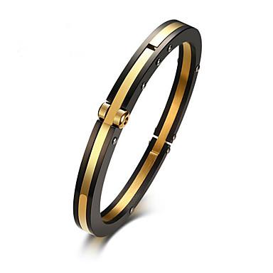 levne Pánské šperky-Pánské Kotníkové náramky Klasika Radost stylové Titanová ocel Náramek šperky Zlatá Pro Párty Denní