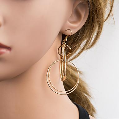 สำหรับผู้หญิง สีทอง Drop Earrings ทางเรขาคณิต เกี่ยวกับยุโรป ต่างหู เครื่องประดับ สีทอง สำหรับ ทุกวัน 1 คู่