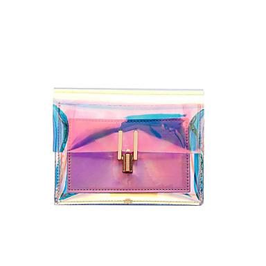 preiswerte Wasserdichte Taschen-Damen Kette PVC Schultertasche Blau / Silber / Rosa