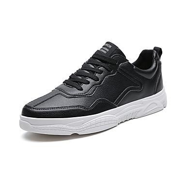 สำหรับผู้ชาย Fashion Boots PU ฤดูร้อนฤดูใบไม้ผลิ ไม่เป็นทางการ / Preppy รองเท้าผ้าใบ วสำหรับเดิน ระบายอากาศ รองเท้าบู้ทหุ้มข้อ สีดำ / ขาว / ผ้าขนสัตว์สีธรรมชาติ / กลางแจ้ง / Light Soles