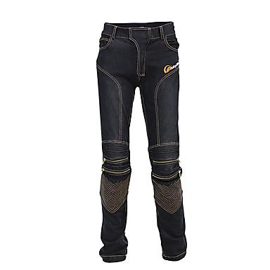 billige Motorsykkel & ATV tilbehør-ridning stamme menn motorsykkel jeans slank passform beskyttende motocross bukser motorsykkel racing pustende stretch biker bukser