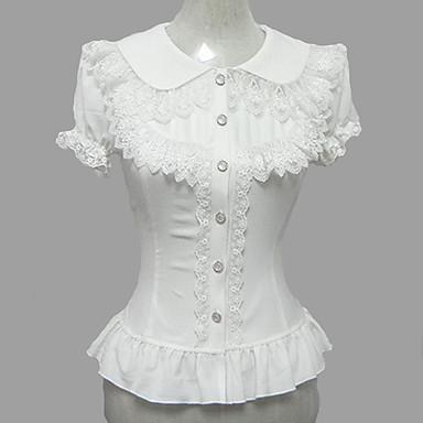 c8e3186e87b4 Πριγκίπισσα Γλυκιά Λολίτα Σιφόν Γυναικεία Μπλούζα / Πουκάμισο Cosplay Λευκό  Μπαλούν Κοντομάνικο Lolita Κοστούμια 1386592 2019 – $35.69