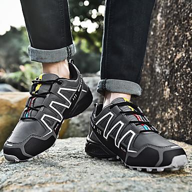 สำหรับผู้ชาย Light Soles Synthetics ฤดูใบไม้ผลิ Sporty / ไม่เป็นทางการ รองเท้ากีฬา สำหรับวิ่ง / เดินป่า ไม่ลื่นไถล สีดำและสีขาว / สีเขียว / ส้ม & ดำ