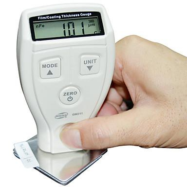 ดิจิตอล benetech gm210 0-1800um มินิสีฟิล์มฐานเหล็กวัดความหนาชุบสังกะสีความหนาวัด