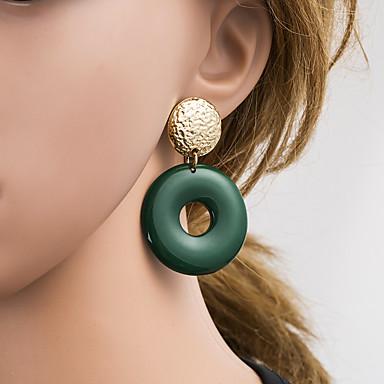 สำหรับผู้หญิง หลายสี Drop Earrings ทางเรขาคณิต เกี่ยวกับยุโรป ต่างหู เครื่องประดับ แดง / สีเขียว / สีน้ำเงินเข้ม สำหรับ ทุกวัน 1 คู่