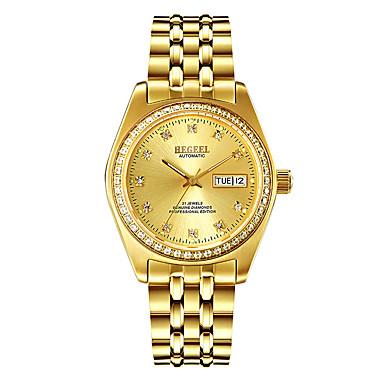levne Pánské-Begeel Pánské mechanické hodinky japonština Automatické natahování Zlatá 50 m Voděodolné Kalendář Analog - Digitál Módní - Zlatá