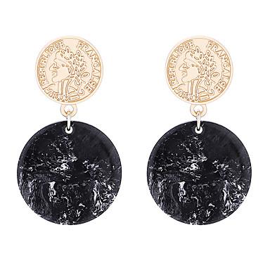 สำหรับผู้หญิง Drop Earrings ต่างหู ต่างหูห้อย หัว ง่าย เกี่ยวกับยุโรป แฟชั่น ต่างหู เครื่องประดับ ขาว / สีดำ / สีชมพู สำหรับ ของขวัญ ทุกวัน ทำงาน 1 คู่