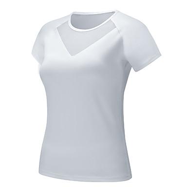 สำหรับผู้หญิง ลายต่อ Sweatshirtและมีฮู้ด โยคะยอดนิยม สีทึบ โยคะ วิ่ง การออกกำลังกาย Sweatshirt แขนสั้น ชุดทำงาน Sweat-wicking ผสมยางยืดไมโคร เพรียวบาง