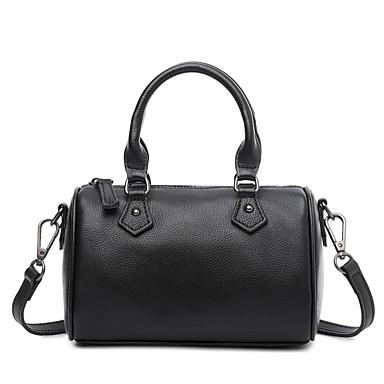 กระเป๋าผู้หญิงหนัง nappa สิริสีทึบสีดำ / เทา