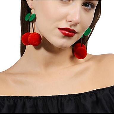 povoljno Modne naušnice-Žene Viseće naušnice Višnja Slatka Style Naušnice Jewelry Crvena Za Dnevno 1 par