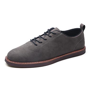 สำหรับผู้ชาย Fashion Boots PU ฤดูร้อนฤดูใบไม้ผลิ ไม่เป็นทางการ / อังกฤษ รองเท้าผ้าใบ วสำหรับเดิน ไม่ลื่นไถล รองเท้าบู้ทหุ้มข้อ สีดำ / สีน้ำตาล / สีเทา / กลางแจ้ง