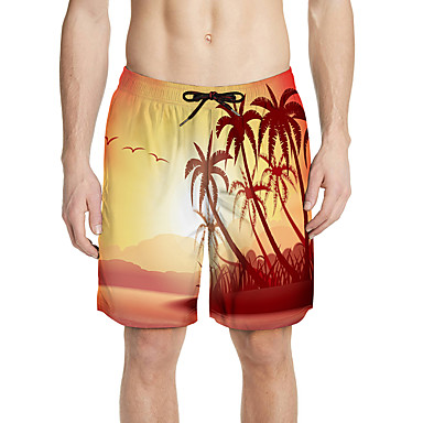 Aloha นักเต้นฮูลา ผู้ใหญ่ สำหรับผู้ชาย สำหรับผู้หญิง ไม่เป็นทางการ สไตล์ชายหาด กางเกง ชุดฮาวาย Luau Costumes สำหรับ วันหยุด ง่าย / ประจำวัน Polyster กางเกงขาสั้น