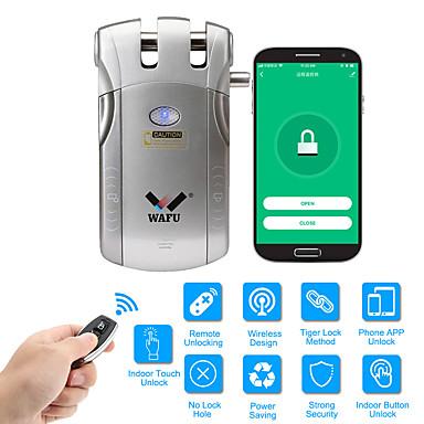 お買い得  家電-wafu wifiリモコンスマート見えないセキュリティドアロックアプリ(ios / androidシステム)433 mhzのホームホテルのオフィスのアパートのための盗難防止ドアロック(wf-010w)