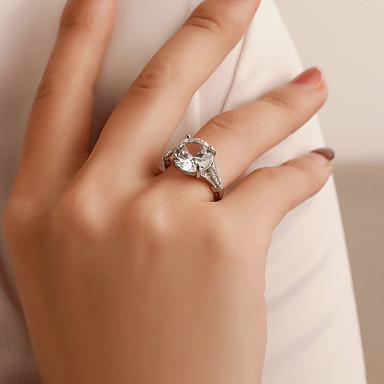 levne Dámské šperky-Dámské Prsten Křišťál 1ks Bílá Slitina Jednoduchý Klasické Vintage Dar Denní Šperky Solitaire Cool