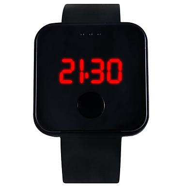 levne Pánské-YAZOLE Pro páry Digitální hodinky Digitální Silikon Černá / Bílá / Modrá LED světlo Hodinky na běžné nošení Digitální Módní Minimalistické - Červená Modrá Růžová Jeden rok Životnost baterie / Nerez
