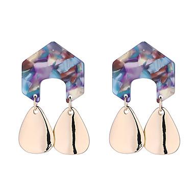 สำหรับผู้หญิง Drop Earrings ต่างหู ต่างหูห้อย ทางเรขาคณิต หล่น Stylish ง่าย เกาหลี ต่างหู เครื่องประดับ ขาว / ฟ้า / สีชมพู สำหรับ ทุกวัน Street ทำงาน 1 คู่