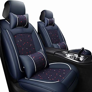 billige Interiørtilbehør til bilen-bilsete dekker nakkestøtter& midje pute sett vin / svart / brunt polyester stoff / lær felles / business for universal