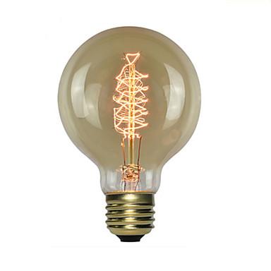 1pc 60 W E26 / E27 G80 1800-2000 k โปร่งใสร่างกาย หลอดไฟ Vintage Edison รุ่น Exand 220-240 V