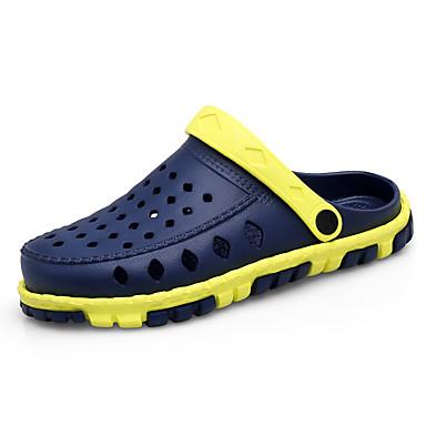 สำหรับผู้ชาย รองเท้าสบาย ๆ Synthetics ฤดูร้อน ไม่เป็นทางการ รองเท้าไม้ & รองเท้าหัวทู่ วสำหรับเดิน สวมหลักฐาน น้ำเงินเข้ม / สีเทา / สีกากี