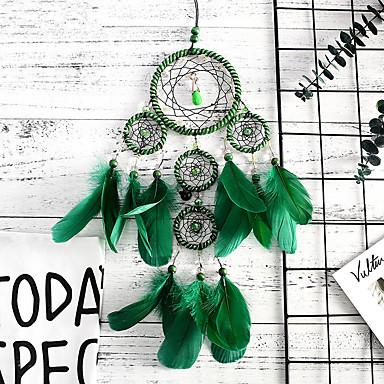 ทำด้วยมือฝันปราบมารสีเขียวหน่วยความจำภายใน 5 แหวนฝันจับจี้ผนังศิลปะตกแต่ง