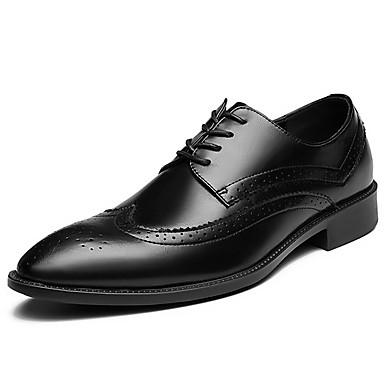 สำหรับผู้ชาย รองเท้าอย่างเป็นทางการ Synthetics ฤดูใบไม้ผลิ / ตก ไม่เป็นทางการ / อังกฤษ รองเท้า Oxfords ไม่ลื่นไถล สีดำ / เลื่อม / ใส่รองเท้า