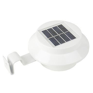 1pc 0.3 W โคมไฟติดผนังพลังงานแสงอาทิตย์ Waterproof / พลังงานแสงอาทิตย์ / การควบคุมไฟ ขาวนวล / White 1.2 V เอ๊าท์ดอร์ / ลาน / สวน 3 ลูกปัด LED
