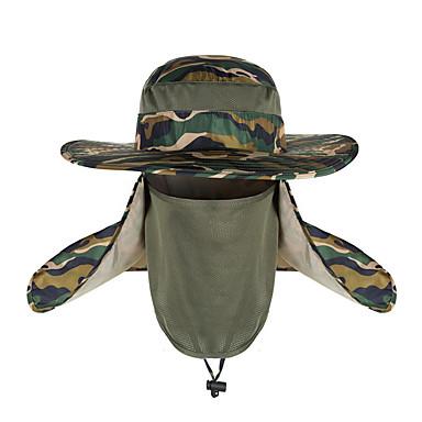abordables Caza y Naturaleza-TCAHCC Gorro para senderismo Gorra para senderismo Gorro de pesca Sombrero Filtro Solar Resistente a los rayos UV Transpirable Antimosquitos camuflaje Nailon Primavera Verano para Hombre Camping y