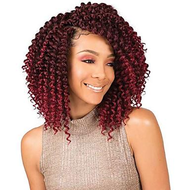 Braiding Hair ความหงิก ที่ต่อ Braids บิด แอฟริกา Kinky Braids สังเคราะห์ 3 ชิ้น Braids ผม สีน้ำตาลอ่อน สีธรรมชาติ 8 นิ้ว สังเคราะห์ คุณภาพที่ดีที่สุด ถักโครเชต์กับผมมนุษย์ / ผม Ombre