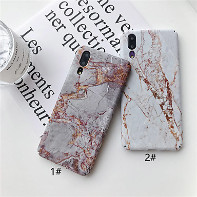 preiswerte Marmor Hülle-Hülle Für Huawei Huawei P20 / Huawei P20 Pro / Huawei P20 lite Ultra dünn / Muster Rückseite Marmor Hart PC