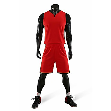 detailed look 8e366 f011e [$15.44] Men's Basketball Uniform Jersey and Shorts Sports Polyester  Clothing Suit Basketball Team Sports Active Training Sleeveless Activewear  Quick ...