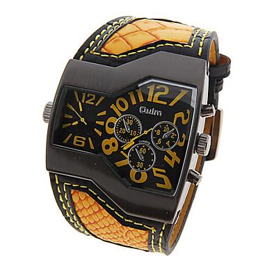 levne Pánské-Oulm Pánské Vojenské hodinky japonština Křemenný Kůže Černá / Bílá / Modrá Kompas Odolný vůči nárazu Analogové Luxus Módní - Žlutá Červená Modrá Jeden rok Životnost baterie