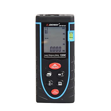 preiswerte Füllstand-Messgeräte-sndway sw-m100 100 m laser-entfernungsmesser starke batterie mit / handheld / einfach für die möbelinstallation / für die messung von smart home / für die technische messung