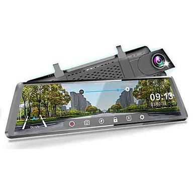 billige Bil-DVR-1080p streaming media bakspeil bil DVR 170 graders vidvinkel 10 tommers ips dash cam med wifi / gps / nattesyn / berøringsskjerm bilopptaker