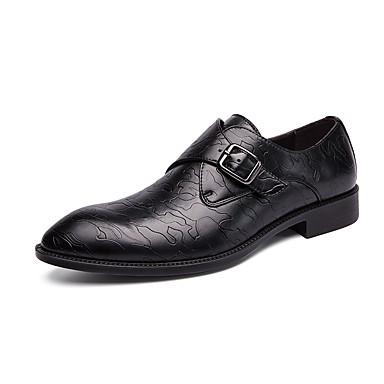 สำหรับผู้ชาย Novelty Shoes หนังสัตว์ / หนังเทียม ฤดูร้อนฤดูใบไม้ผลิ คลาสสิก / อังกฤษ รองเท้า Oxfords ระบายอากาศ สีดำ / สีน้ำตาล / พรรคและเย็น / พรรคและเย็น / ใส่รองเท้า