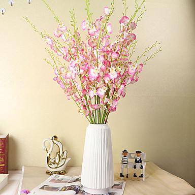 ดอกไม้ประดิษฐ์ 1 สาขา คลาสสิก สมัยใหม่ร่วมสมัย เกี่ยวกับยุโรป กล้วยไม้ ดอกไม้นิรันดร์ ดอกไม้วางบนโต๊ะ