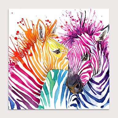 cheap Wall Art-Print Rolled Canvas Prints - Animals Pop Art Modern Art Prints