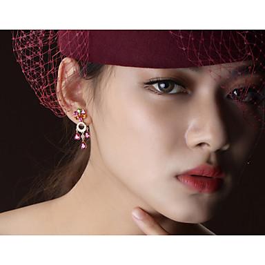 สำหรับผู้หญิง หลายสี Tourmaline ต่างหูแบบห่วง โบราณ Rustic วินเทจ สง่างาม ต่างหู เครื่องประดับ Rose Gold สำหรับ งานแต่งงาน ปาร์ตี้ ทุกวัน 1 คู่