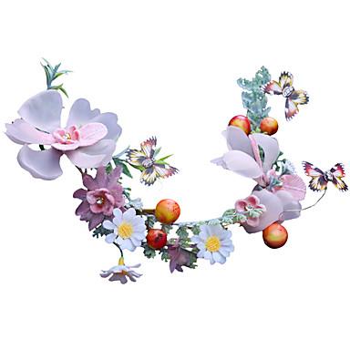 ตูเล่ เครื่องประดับศรีษะ กับ ดอกไม้ 1 ชิ้น งานแต่งงาน / ที่มา หูฟัง