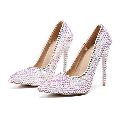 สำหรับผู้หญิง รองเท้าแต่งงาน ส้น Stiletto Synthetics ฤดูใบไม้ผลิ สายรุ้ง / งานแต่งงาน / พรรคและเย็น