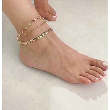 levne Dámské šperky-Dámské Tělové ozdoby 22 cm Toe Ring / Řetízek na nohu / šperky na nohy Zlatá / Stříbrná Slitina Kostýmní šperky Pro Párty / Dar / Denní Letní