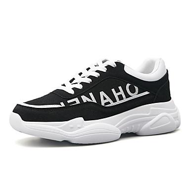 สำหรับผู้ชาย Fashion Boots PU ฤดูร้อนฤดูใบไม้ผลิ ไม่เป็นทางการ / Preppy รองเท้าผ้าใบ วสำหรับเดิน ระบายอากาศ รองเท้าบู้ทหุ้มข้อ คำขวัญ สีดำ / ผ้าขนสัตว์สีธรรมชาติ / สีเทา / กลางแจ้ง / Light Soles