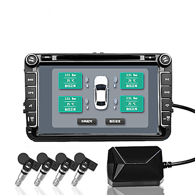 cheap Vehicle Tire Gauges-Car Tire Pressure Monitoring System TPMS Android Navigation Tire Pressure Wireless Monitor Built-in Tire Pressure Detector