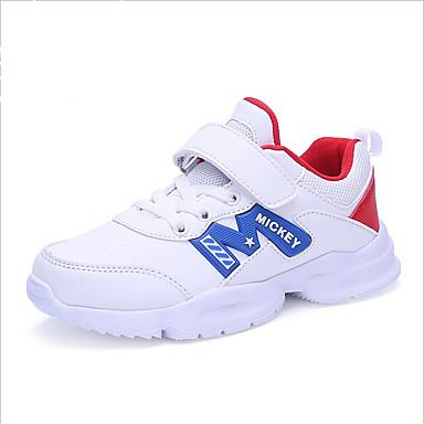 เด็กผู้ชาย ความสะดวกสบาย หนังเทียม รองเท้ากีฬา เด็กน้อย (4-7ys) / Big Kids (7 ปี +) ขาว / น้ำเงินเข้ม ตก