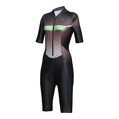 ilpaladino femme manches courtes tenue de triathlon trifonction noir taches pente v lo ensembles