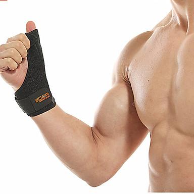 ที่รัดข้อมือ สำหรับ วิ่ง ยิมออกกำลังกาย ถอดได้ Protection ความยืดหยุ่น Polyester / Polyamide Poly / Cotton Blend ยาง 1 ชิ้น Sport สีดำ