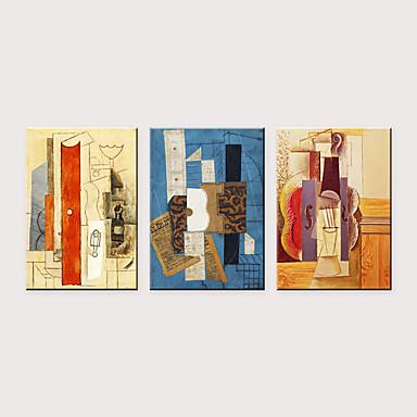 Print พิมพ์ผ้าใบรีด - แอ็ปสแต็ก มีชื่อเสียง คลาสสิก สามภาพ ศิลปะภาพพิมพ์