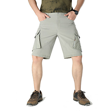 สำหรับผู้ชาย Hiking Shorts Hiking Cargo Shorts กลางแจ้ง ระบายอากาศ การระบายอากาศ แห้งเร็ว ซึ่งยืดหยุ่น ฤดูใบไม้ผลิ ฤดูร้อน กางเกงขาสั้น ด้านล่าง แคมป์ปิ้ง / การปีนเขา / เที่ยวถ้ำ การเดินทาง