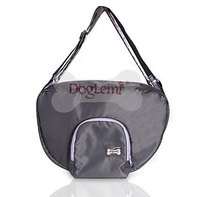 สุนัข แมว ให้บริการ & เป้เดินทาง กระเป๋าสะพาย สัตว์เลี้ยง ผู้ขนส่ง กันน้ำ Portable มินิ สีพื้น แบล็ค สีเทา