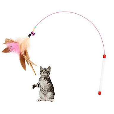 Feather Toy ของเล่นแบบโต้ตอบ แมว สัตว์เลี้ยง Toy 1pc ขนนก ลง ของขวัญ